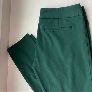 Cynthia Rowley (6) Forest Green Dress Pants